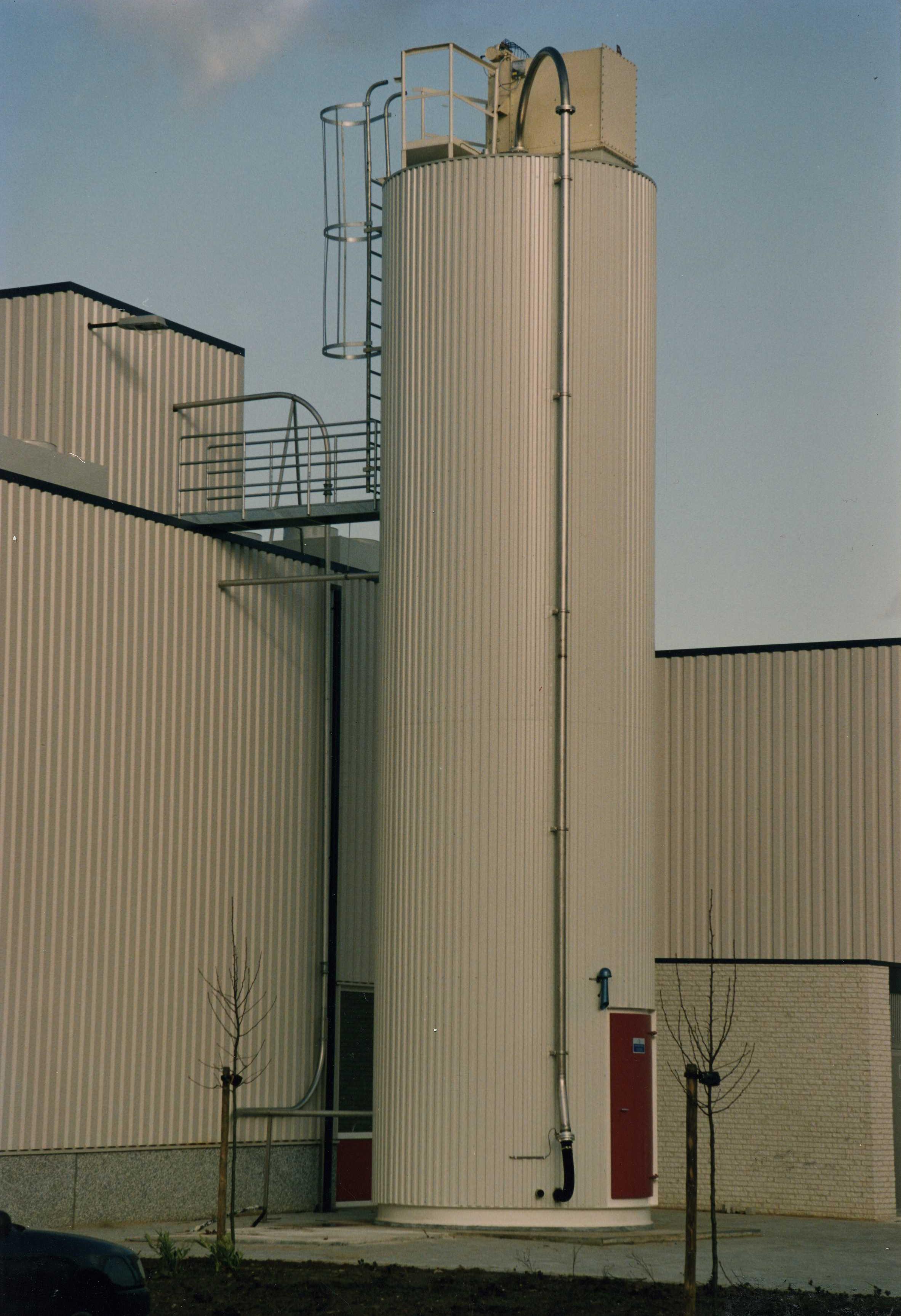 Suikersilo 80 m3, buitenopstelling, geïsoleerd en geconditioneerd