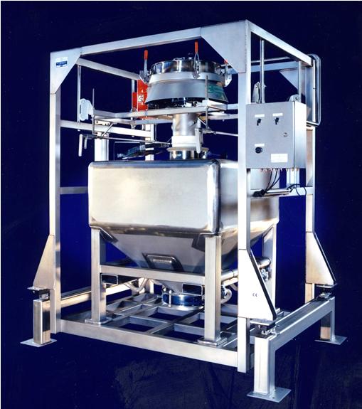 Zeef-, doseer- en weeginstallatie t.b.v. het vullen van Big-Bags en Containers